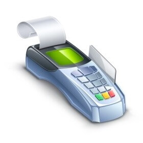 Cash register with payment terminal